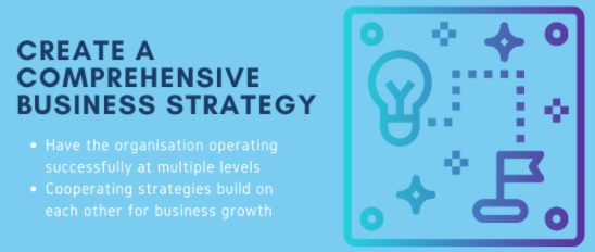 Create a comprehesive business strategy.